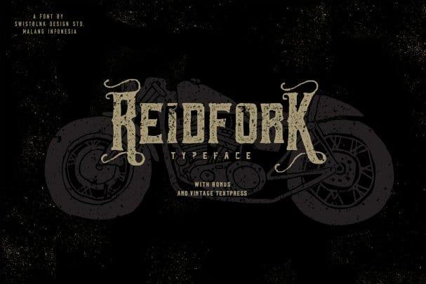 Download Reidfork Typeface + Textpress font (typeface)