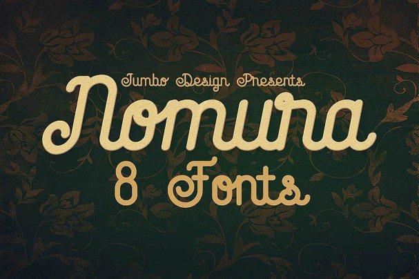 Download Nomura - Vintage Style Font font (typeface)