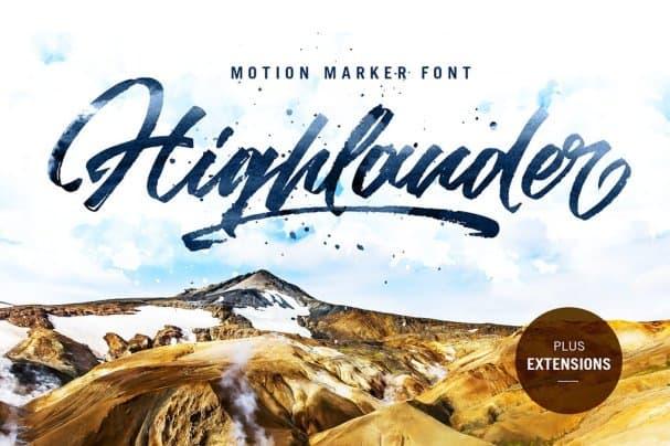 Download Highlander marker script font (typeface)