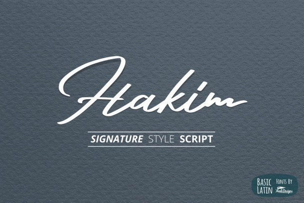 Download Hakim Signature font (typeface)