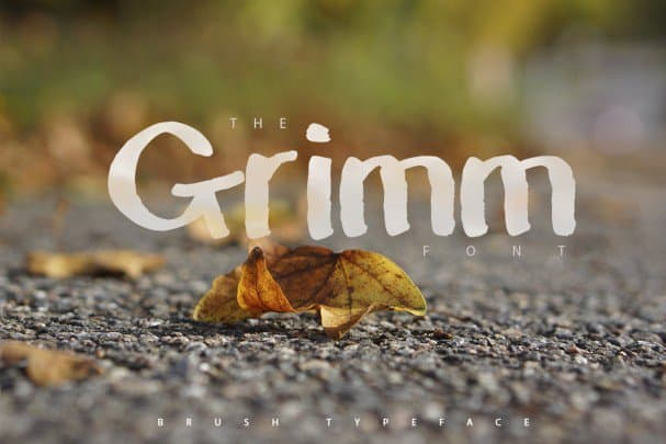 Download The Grimm Brush Typeface font (typeface)