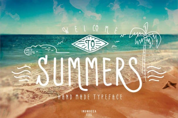 Download Summers Typeface + BONUS vector font (typeface)