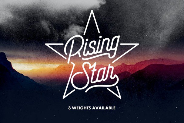 Download Rising Star font (typeface)