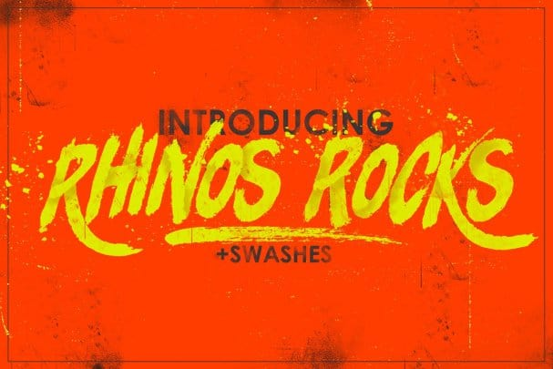 Download Rhinos Rocks Brush font (typeface)