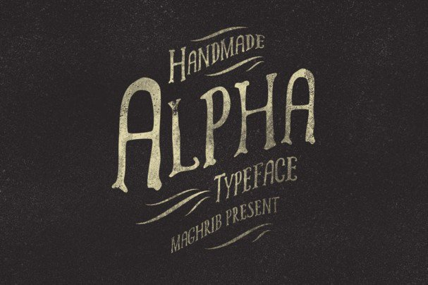 Download Alpha rough & Extras font (typeface)