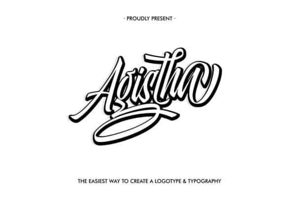 Download Agistha Script font (typeface)