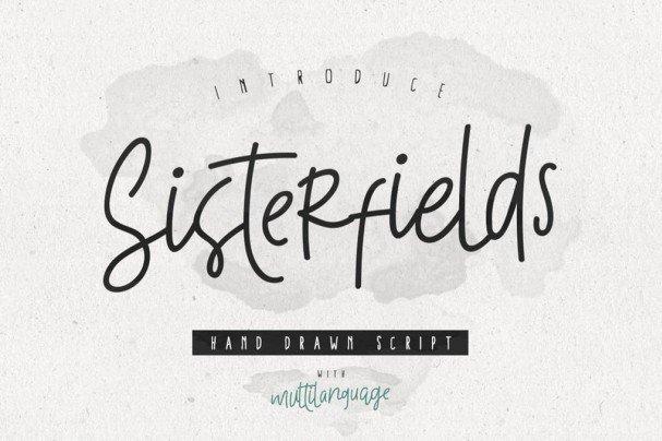 Download Sisterfields Script font (typeface)