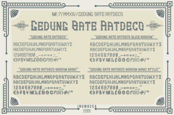 Download GS. Art Deco Family font (typeface)