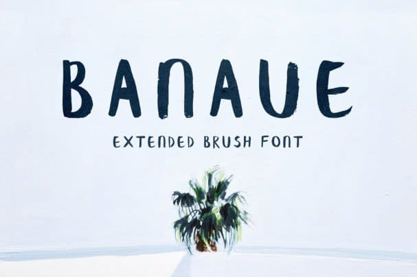 Download Banaue Extended Brush font (typeface)
