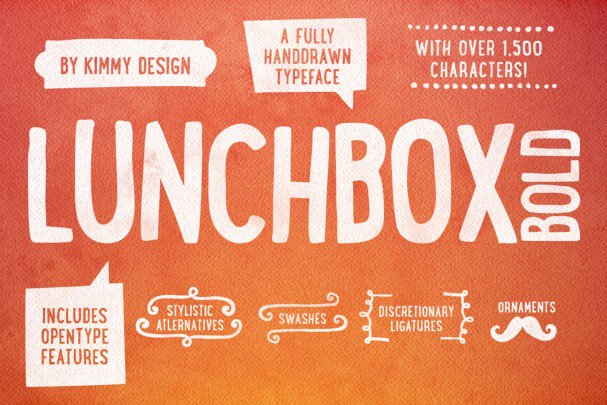 Download Lunchbox Bold font (typeface)