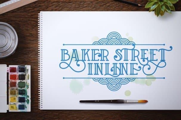 Download Baker Street Inline font (typeface)