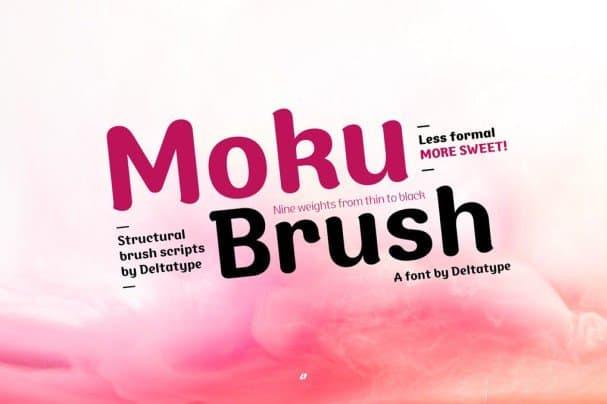 Download Moku Brush font (typeface)