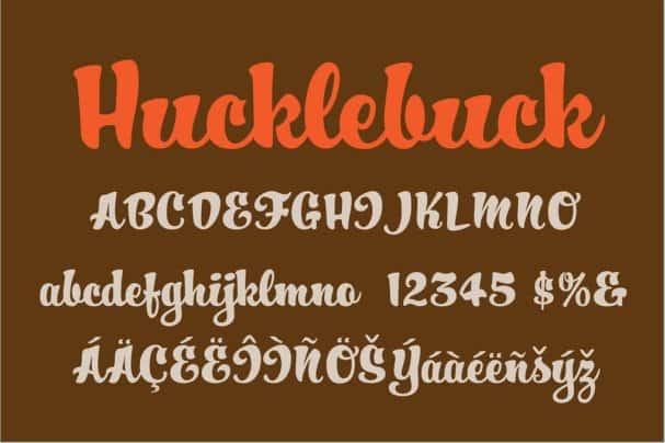 Download Hucklebuck font (typeface)