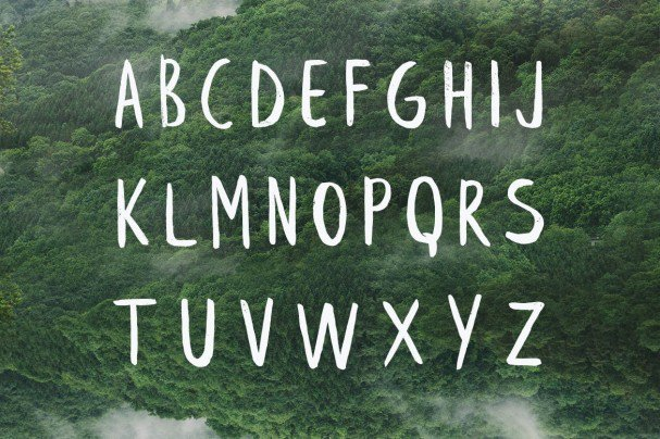 Download Leafy Extended Brush Font font (typeface)