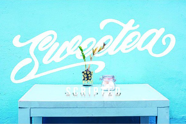 Download Sweetea Scripted font (typeface)