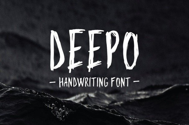 Download Deepo - Handwriting Font font (typeface)