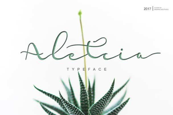 Download Aletcia font (typeface)