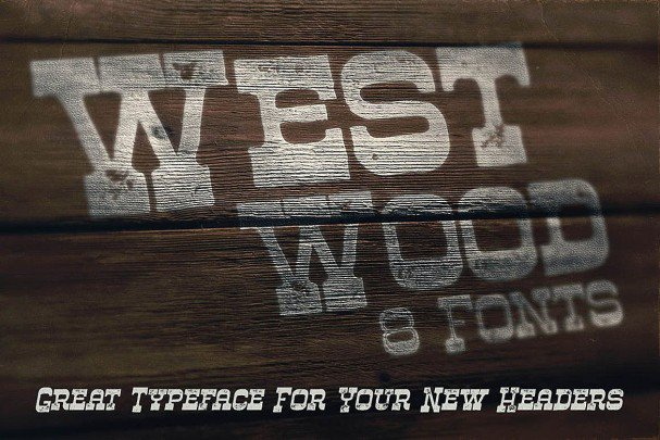 Download Westwood - Funny Western font (typeface)