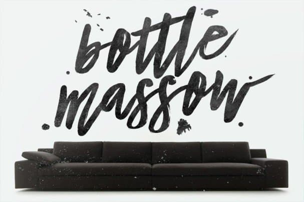 Download Bottle Massow Typeface font (typeface)