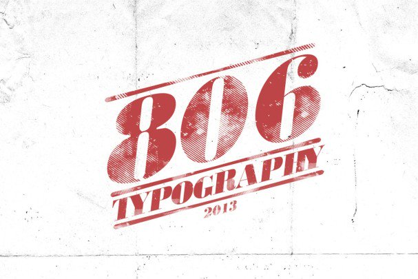 Download 806 Typography font (typeface)