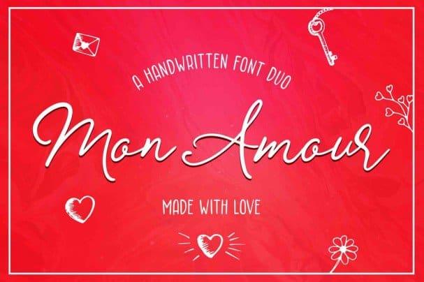 Download Mon Amour font (typeface)