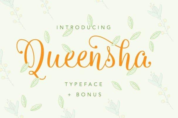 Download Queensha Typeface font (typeface)