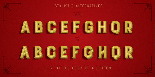 Download Burford Stripes B font (typeface)