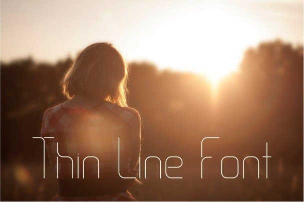 Download Thin Line Font font (typeface)