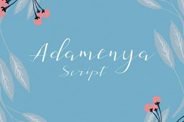 Download Adamenya Script font (typeface)