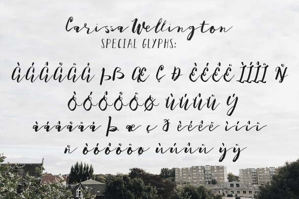 Download Carissa Wellington font (typeface)