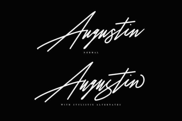 Download Augustia Signature Typeface font (typeface)