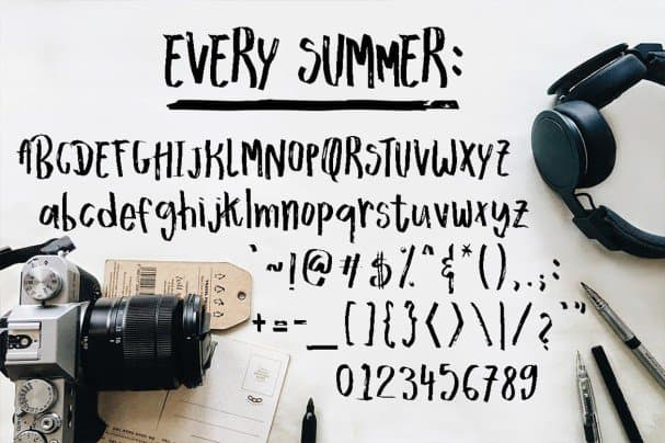 Download Every Summer font (typeface)