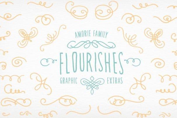 Download Amorie Elements - Flourishes font (typeface)