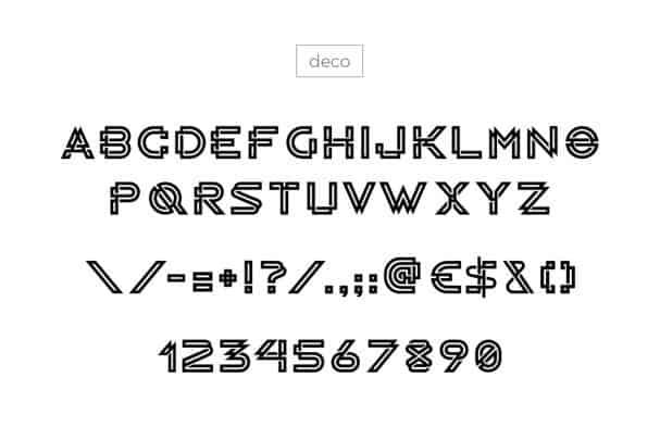 Download RADON monogram logo font (typeface)