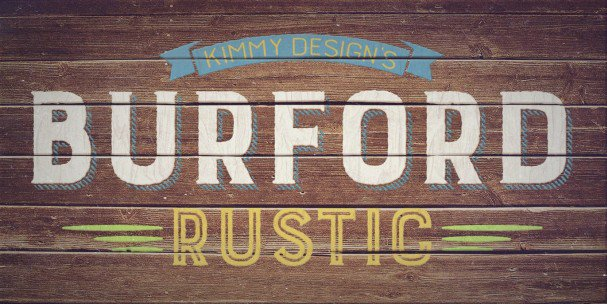 Download Burford Rustic Book UltraLight font (typeface)