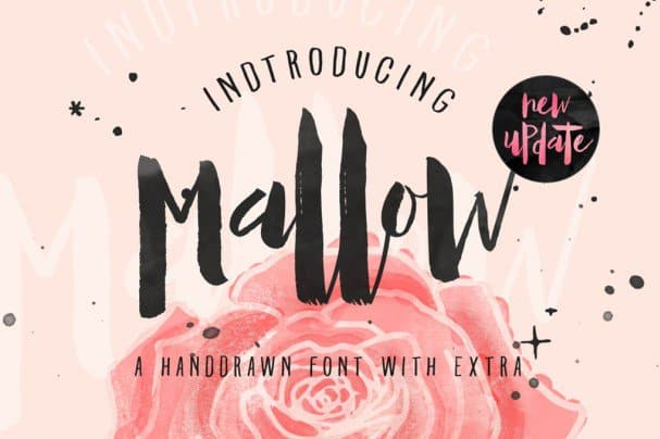 Download Mallow Typeface & EXTRA Mockup font (typeface)