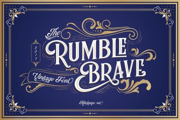 Download Rumble Brave Vintage Fonts font (typeface)