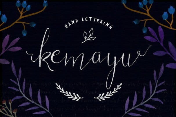 Download Kemayu Typeface font (typeface)