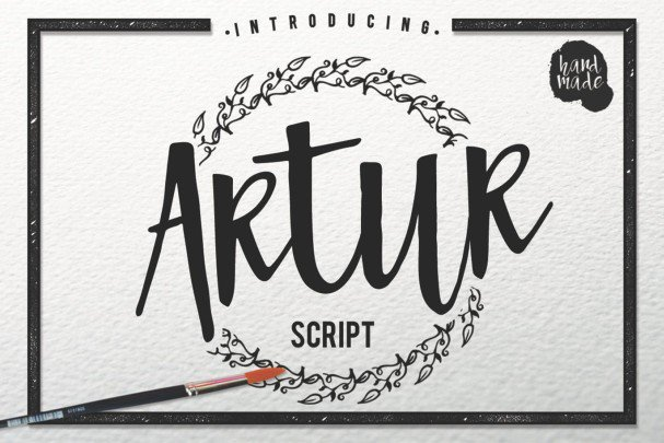 Download Artur Script font (typeface)