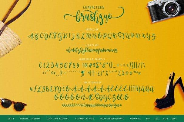 Download Brushgyo typeface font (typeface)