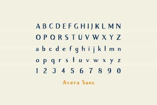 Download Avera Sans font (typeface)