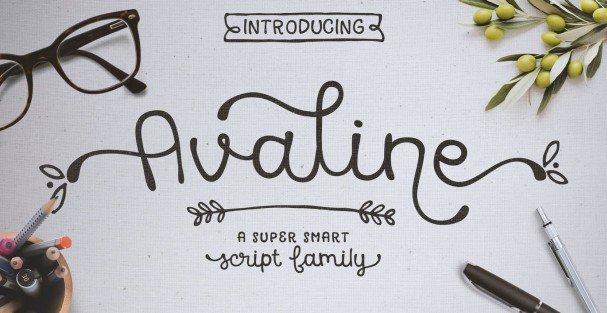 Download Avaline Script Bold font (typeface)