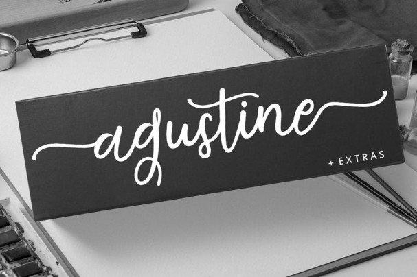 Download Agustine Script font (typeface)