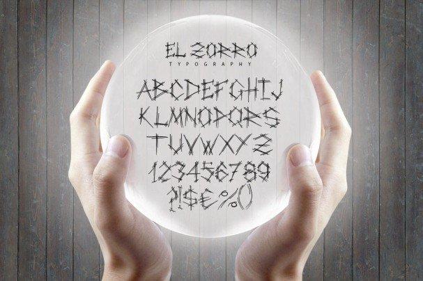 Download El Zorro Script Typeface font (typeface)