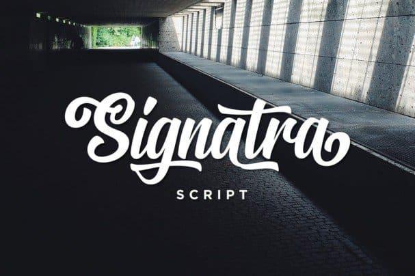 Download Signatra Script font (typeface)
