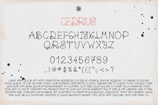 Download Cedrus font (typeface)