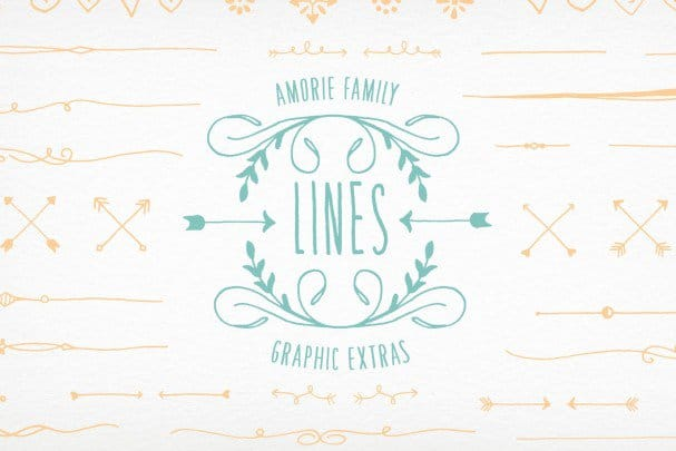 Download Amorie Extras - Lines font (typeface)