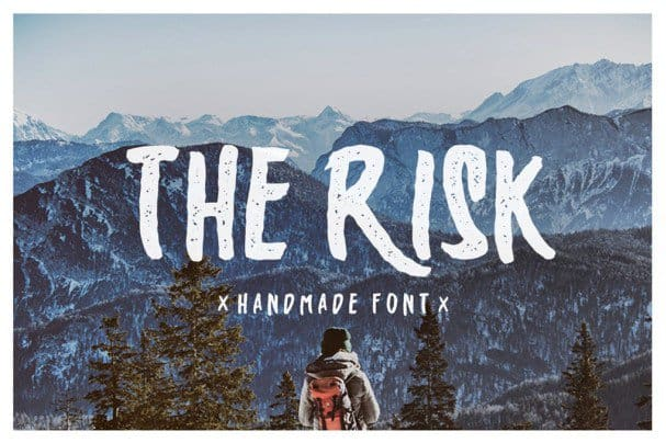 Download The Risk - Handmade font (typeface)