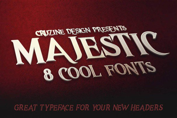 Download Majestic Typeface font (typeface)