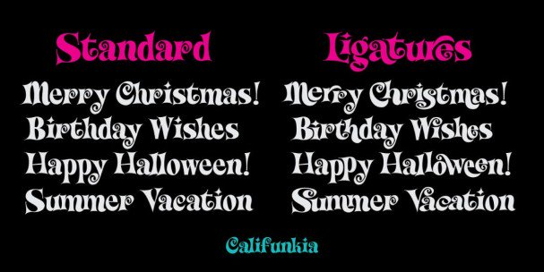 Download Califunkia font (typeface)